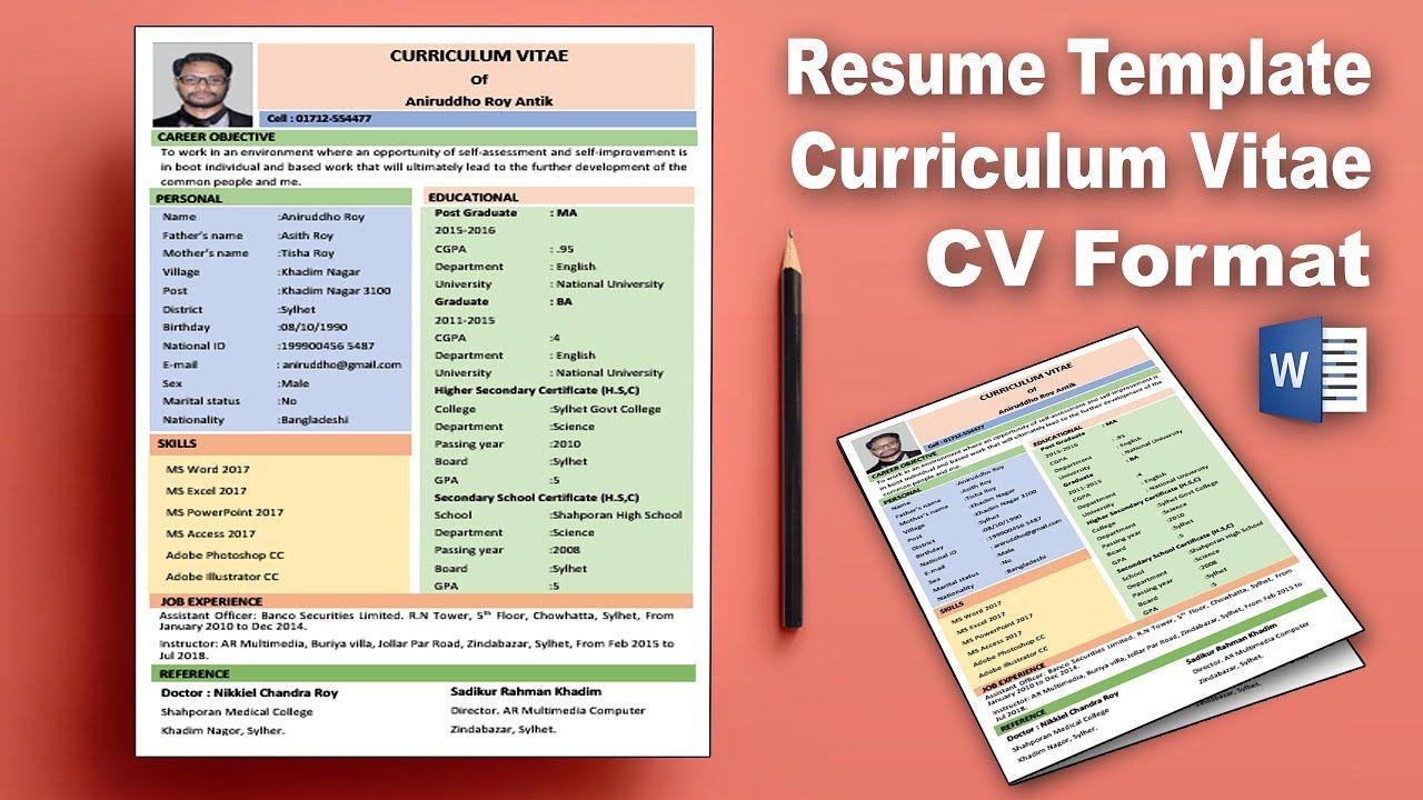 Ms Word Create Professional Curriculum Vitae (Cv