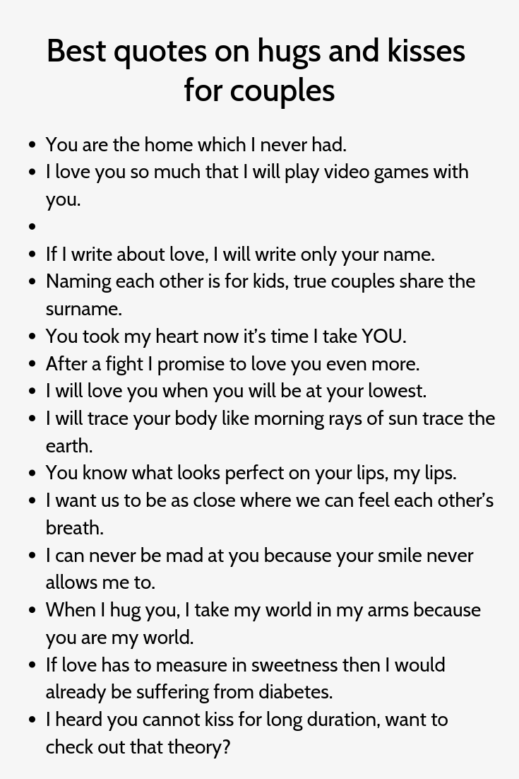 Best Quotes On Hugs And Kisses For Couples Hug Quotes Instagram Quotes Captions Best Quotes