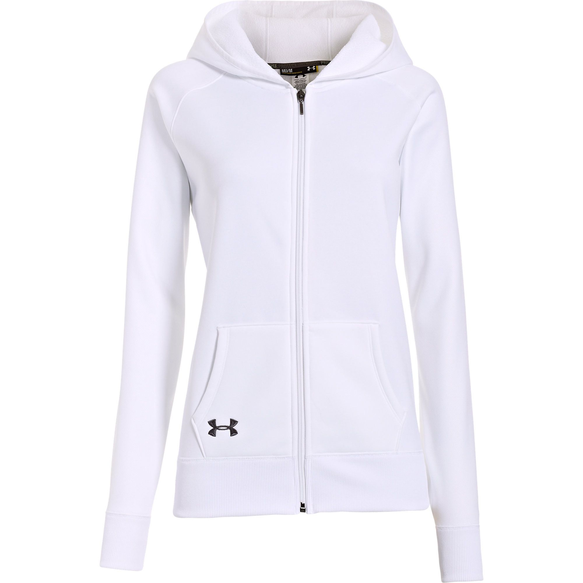 Under Armour Women s Storm Armour Fleece Full Zip Hoodie (White ... c87a7a0bdc