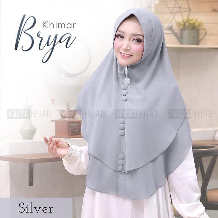 Khimar Brya Khimar Brya Dengan Variasi Triple Kancing Posisi Tengah Vertikal Menjadikan Paduan Asesoris Yang Cantik Simple Model Baju Wanita Hijab Gaya Hijab