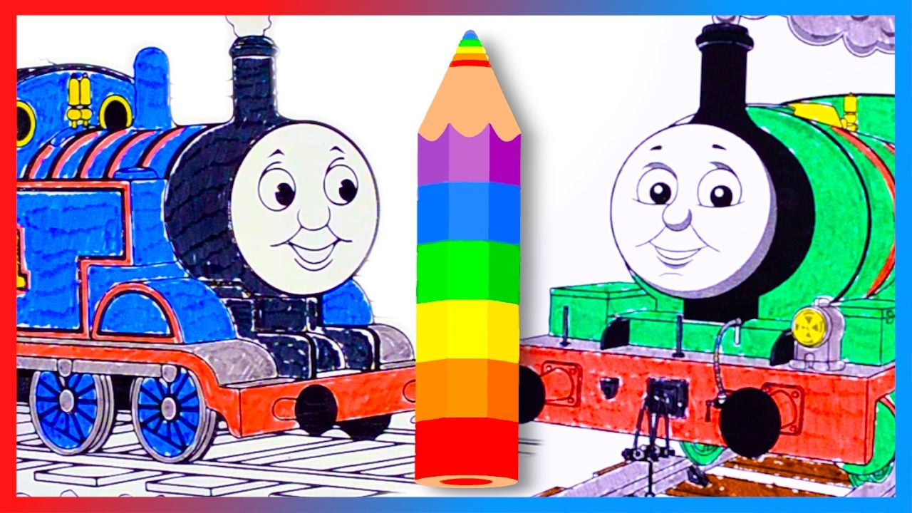 Coloring And Learn Colors With Thomas And Friends Coloring