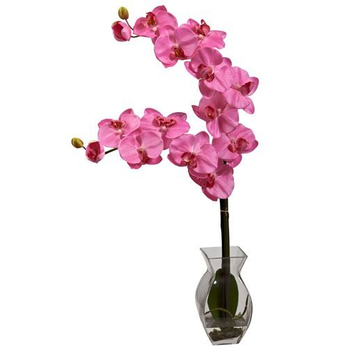 Nearly Natural 1295 Phalaenopsis Orchid with Vase Arrangement