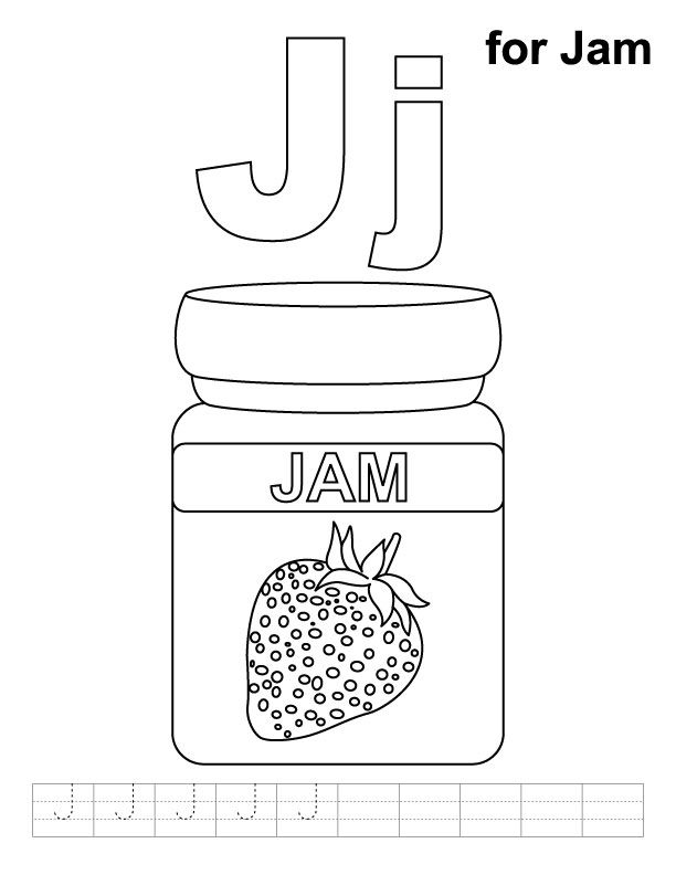 j for jug coloring pages - photo #11