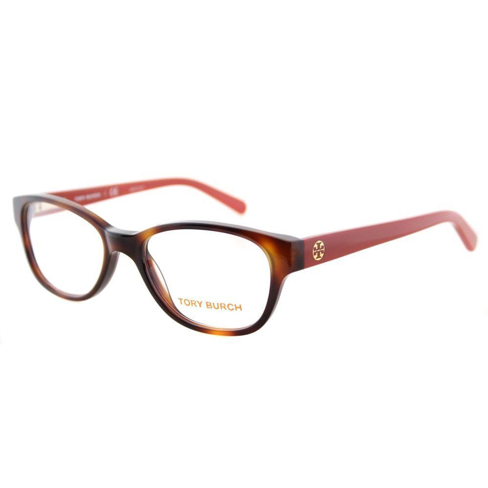 2b537e0d440d Tory Burch TY 2031 1162 Tortoise on Logo Print Cat-Eye 51mm Eyeglasses