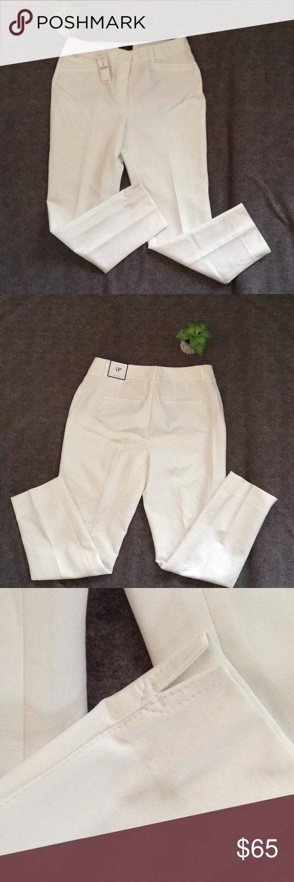 White Slacks White slacks with front and back pockets. The slim ankle. Loops on waist for belt. Front zipper closure with metal hook and eye. Bottom of pants have open slits. Brand new with tags. White House Black Market Pants Trousers #whiteslacks White Slacks White slacks with front and back pockets. The slim ankle. Loops on waist for belt. Front zipper closure with metal hook and eye. Bottom of pants have open slits. Brand new with tags. White House Black Market Pants Trousers #whiteslacks Wh #whiteslacks