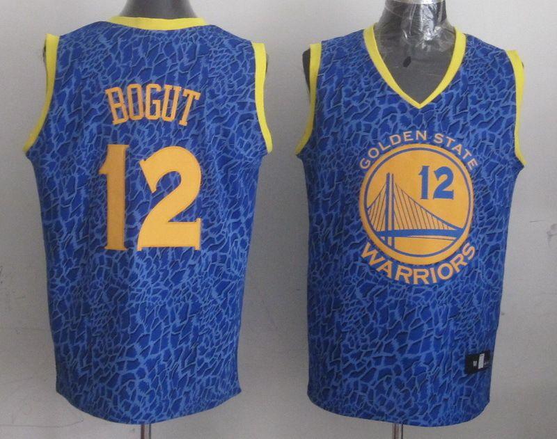 dde7568b9 Men s NBA Golden State Warriors  12 Bogut Crazy Light Swingman Blue Jersey