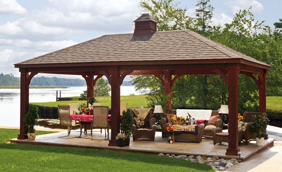 24 Simple Outdoor Pavilions Design With Fireplaces Backyard Pavilion Backyard Gazebo Outdoor Pavilion