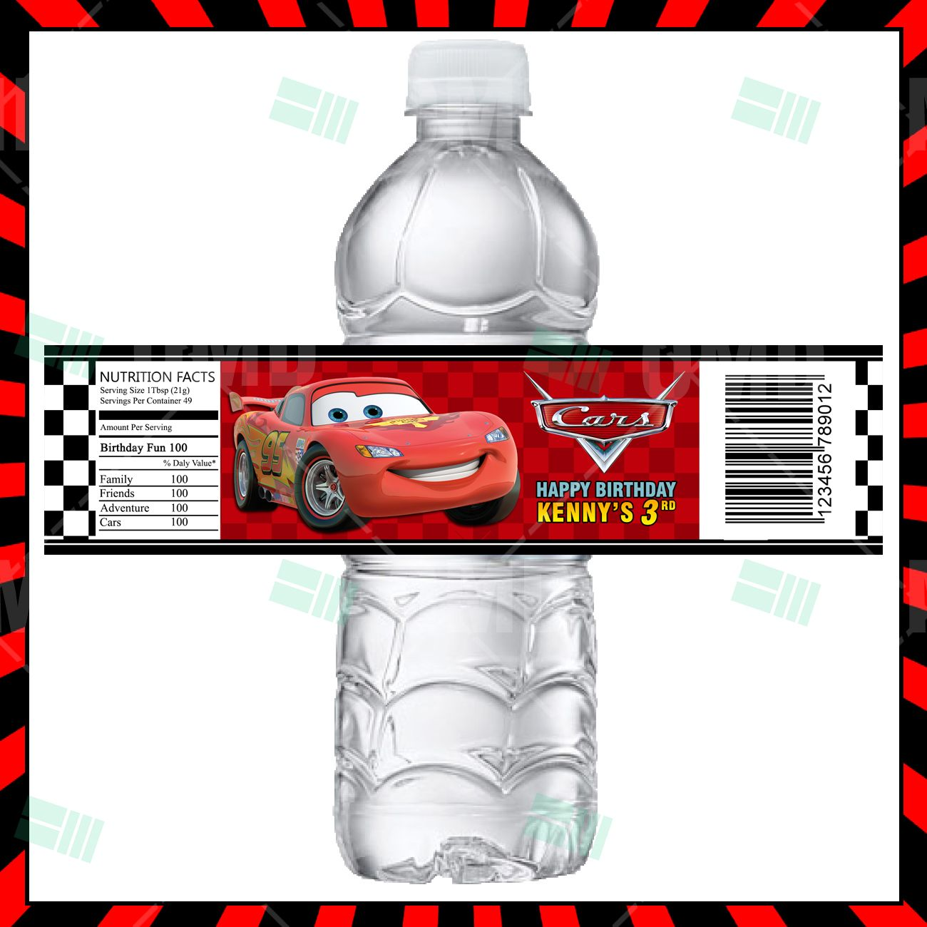 Cars Cartoon Party Bottle Labels In 2020