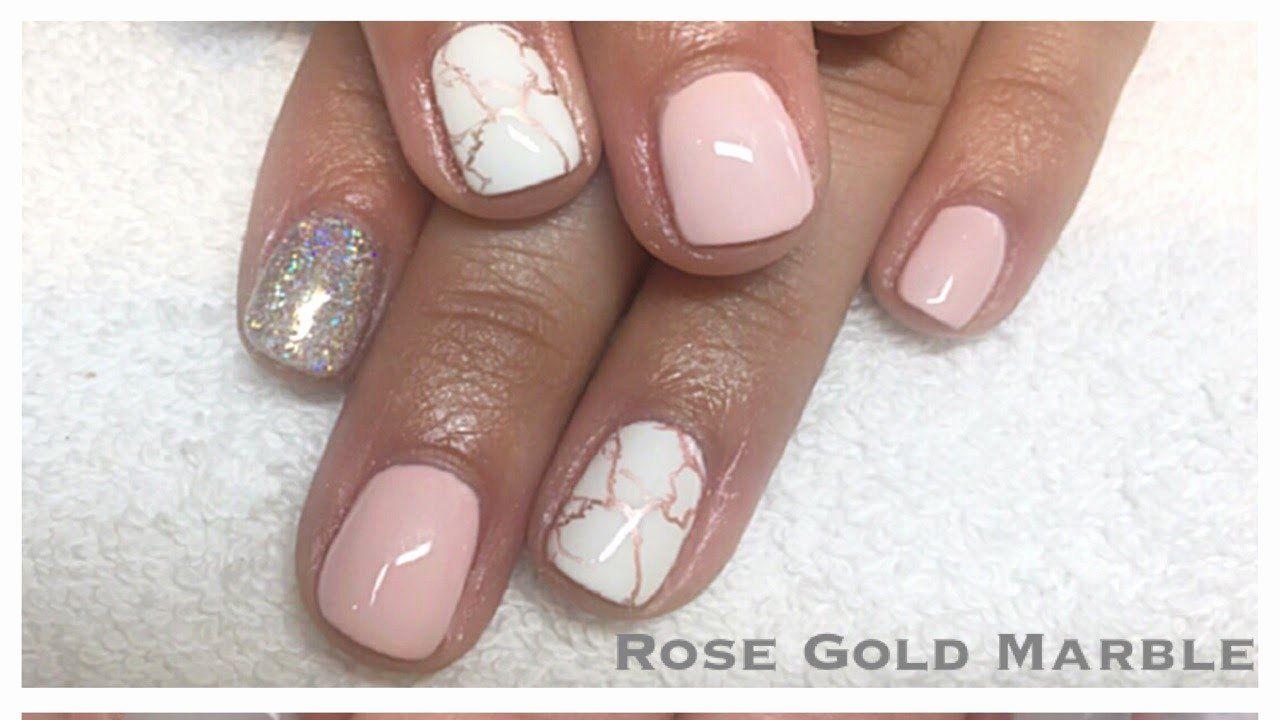 Gold Gel Nail Polish Awesome Rose Gold Marble Gel Nail Tutorial Chrome Stamping Polish