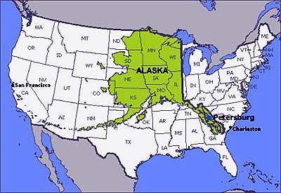 Usa Map Including Alaska | Heading West | Alaska, Yachten