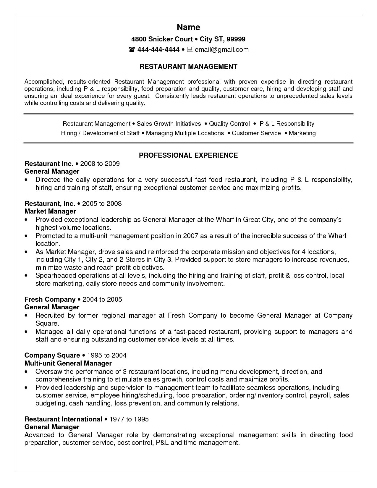 Resume Executive Summary Examples | Sample Resume Letters Job ...