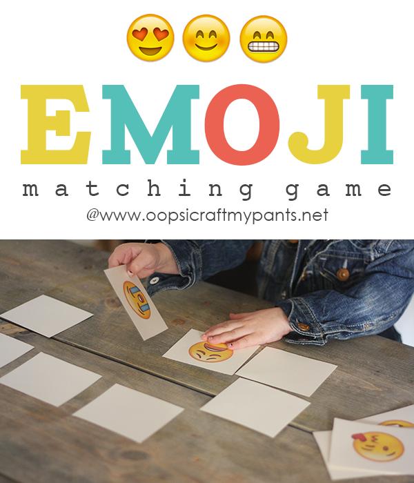 Printable EMOJI Matching Game