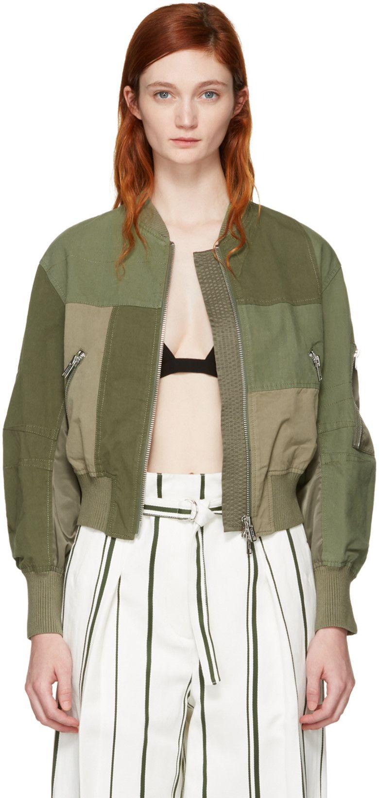 Pin by Thalia O on Outwear Army green bomber jacket