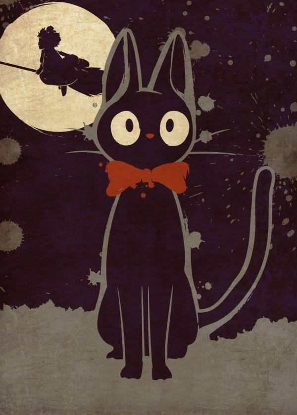 ジブリ イラスト おしゃれまとめの人気アイデア Pinterest Ako Harada 猫のイラスト ジブリ イラスト トトロ