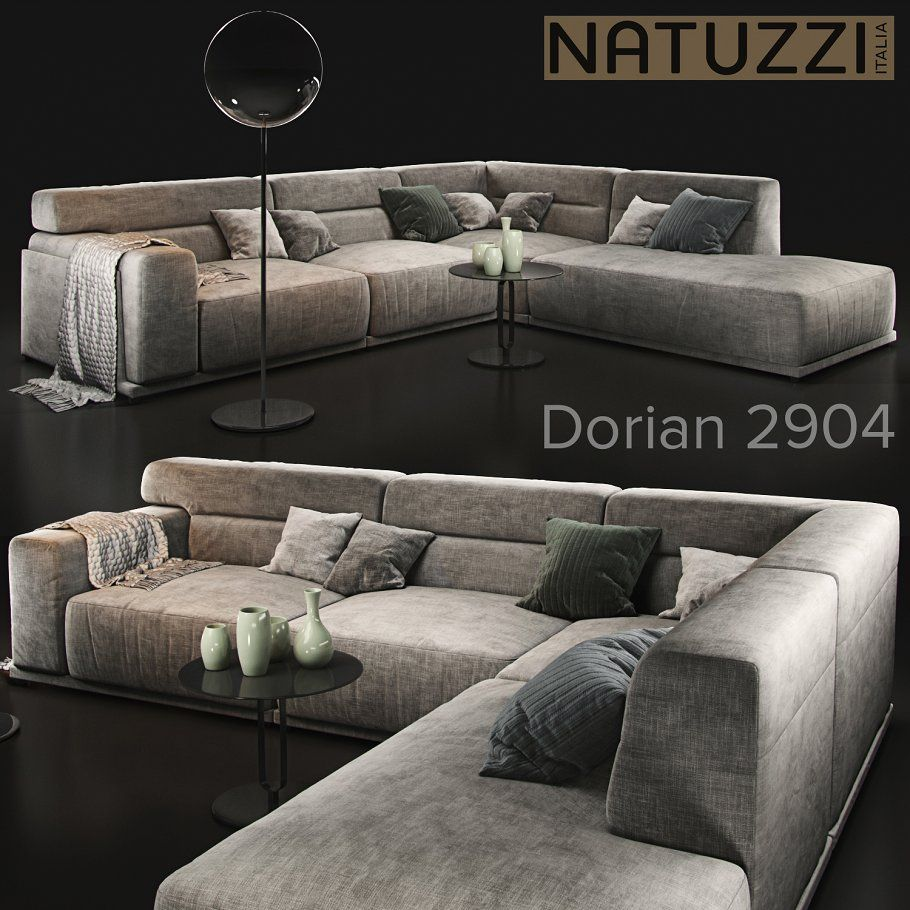 Sofa Natuzzi Dorian 2904 By Soqueen On Graphicshive Angol