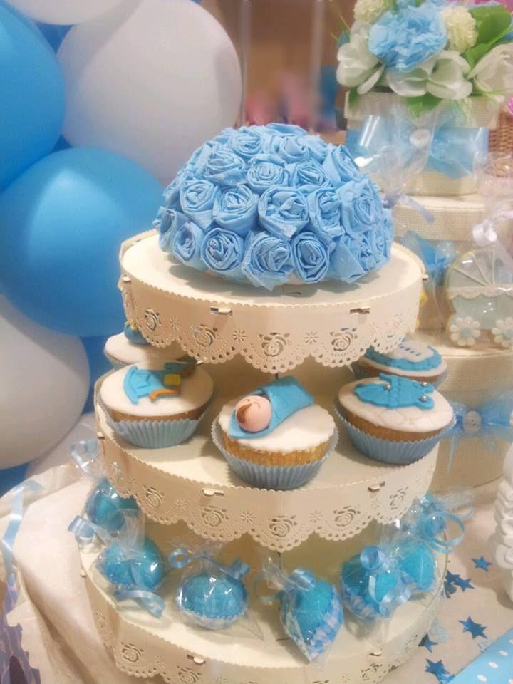 Exceptionnel alzata di cupcake e marshmellows per sweet table battesimo bimbo  UK63