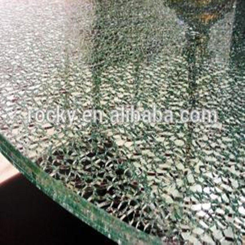 Tafel Van Gebroken Glas.Qingdao Rotsachtige Hoge Kwaliteit Gebroken 3mm 19mm Gehard