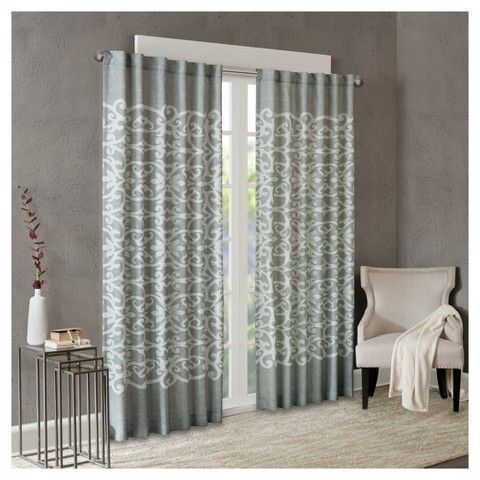"Ellia Texture Printed Window Curtain Panel (50""x84"")"