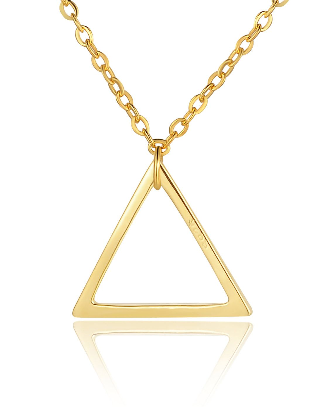 #AdoreWe #VIPme Necklaces - SH STAR HARVEST 18K Gold Plated Triangle Hallows Pendant Necklace - AdoreWe.com
