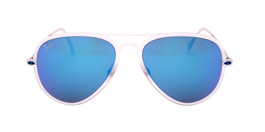 f8f2c65208 RAY BAN AVIATOR LIGHT RAY II RB4211 646 55 56 Transparent Silver   Blue  Mirror