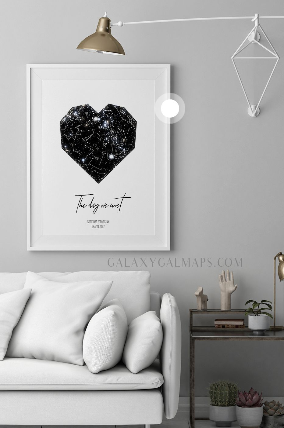 Personal star map by date and location constellation poster wall art black large printable flower girl nursery print inspirational also rh pinterest