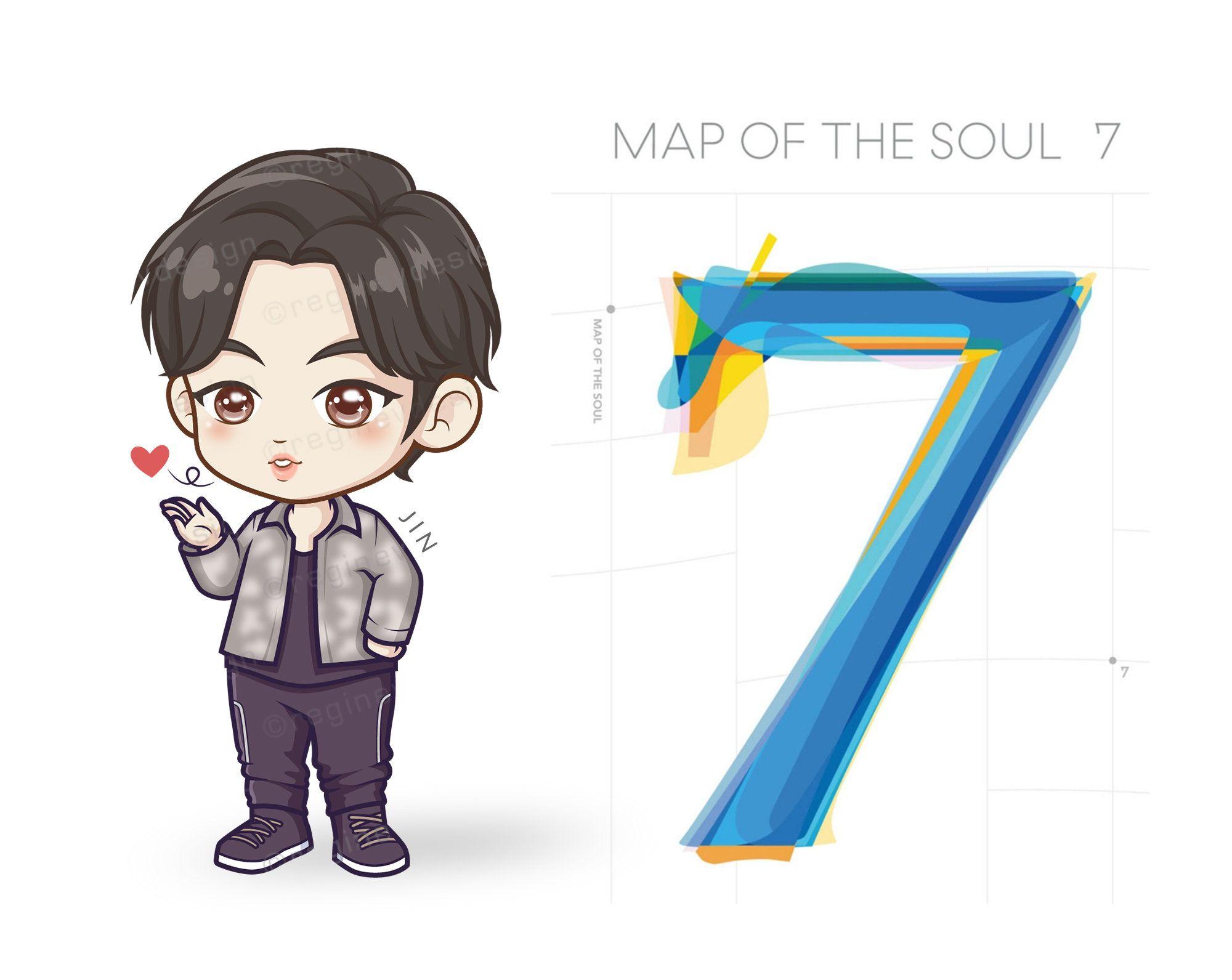 Bts Jin Chibi Kawaii Cartoon Clipart K Pop Ji Seok Jin Etsy Bts Jin Chibi Cartoon Clip Art