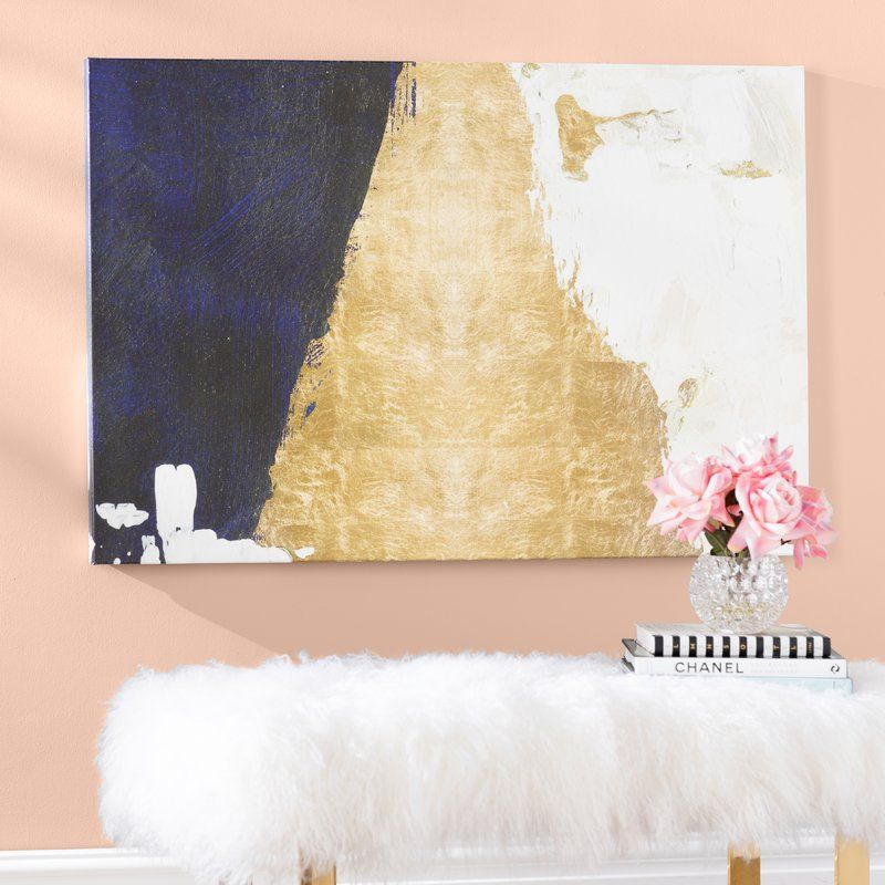 Night And Day Abstract Wrapped Canvas Graphic Art Print Graphic Art Print Pink Peonies Art Abstract Wall Decor