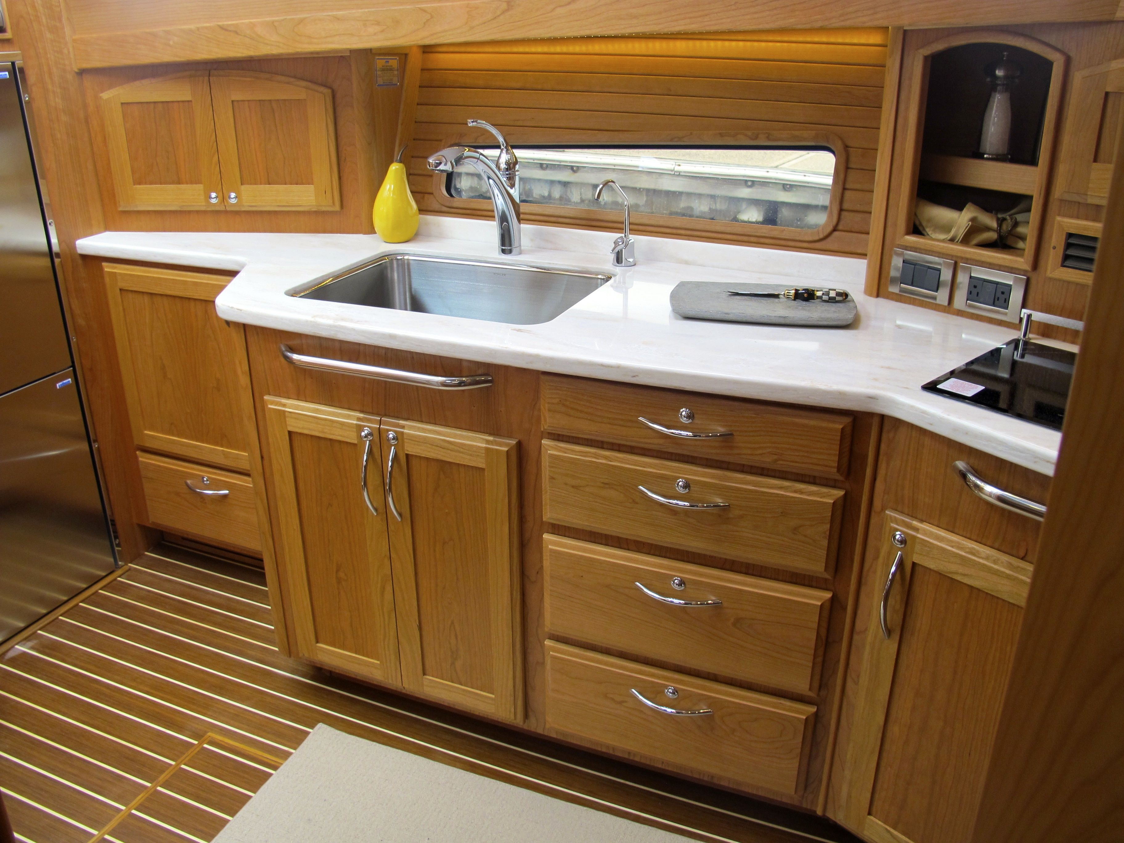 Galley Sabre Yachts 48 Boston Yacht Sales Boat Decor Decor Kitchen