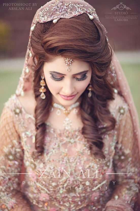 Pin By Blue Heaven Salon Pune On Wedding Updo Pakistani Bridal