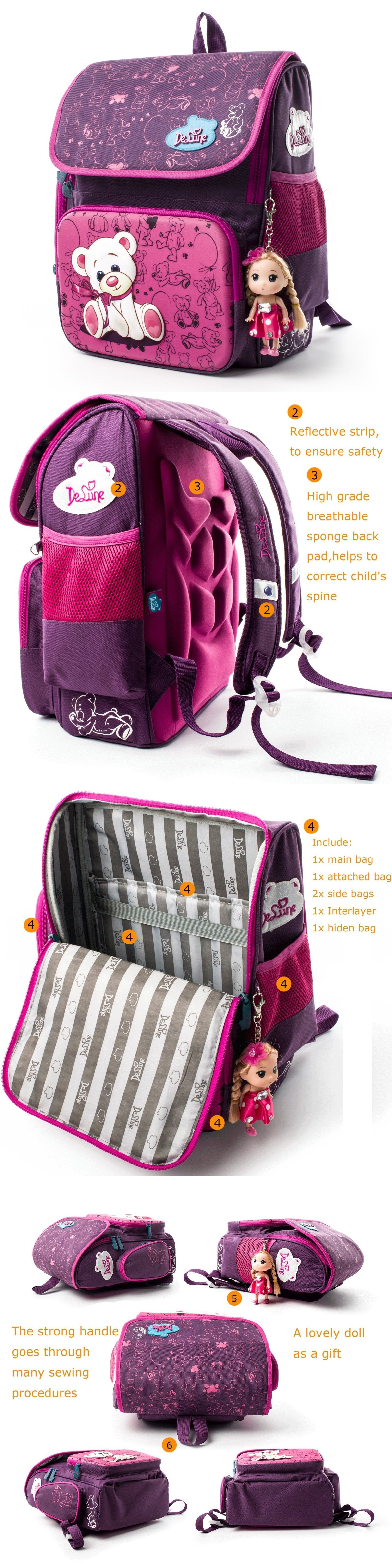 29fe448ce1 Backpacks and Bags 57882  School Backpack For Girls Kids School Bag With Lovely  Doll Waterproof Backpack -  BUY IT NOW ONLY   48.31 on eBay!