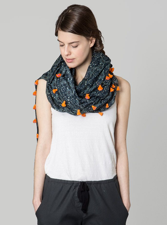 Couverture and The Garbstore - Womens - Megan Park - Printed Tassled Wrap