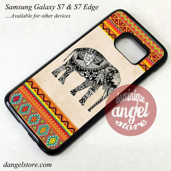 Awesome Elephant Aztec Phone Case for Samsung Galaxy S7 and Galaxy S7 Edge