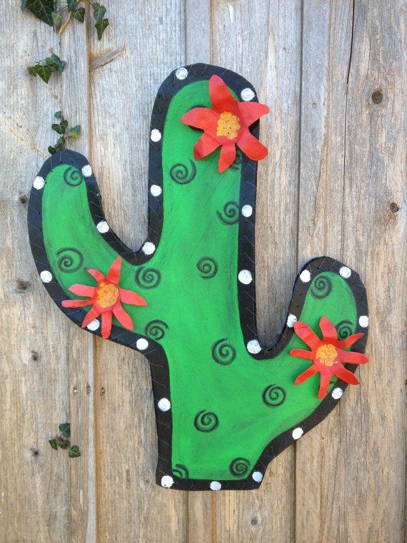 Cactus Door Hanger Wreath By Doornament On Etsy 45 00