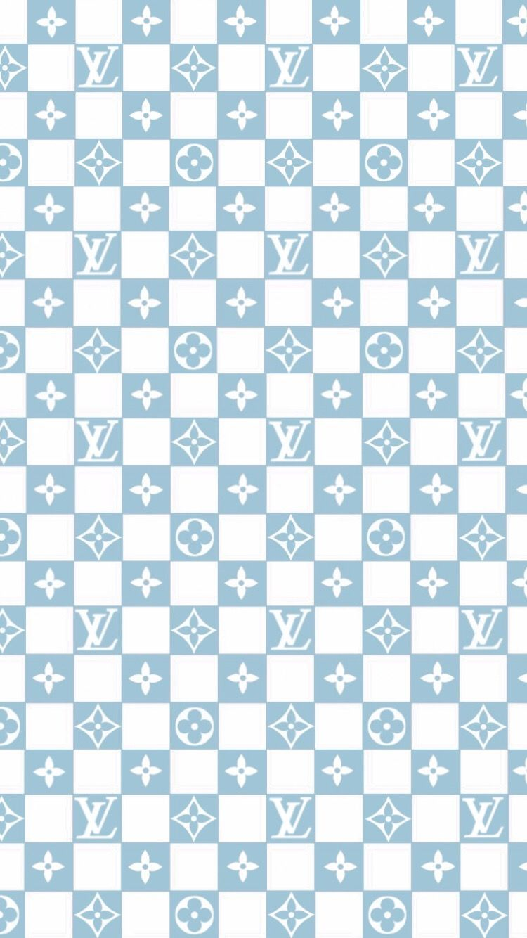 Louis Vuitton Baby Blue Checkered Vans Wallpaper In 2020 With