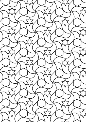 Alhambra Tessellations Coloring page | Creating | Pinterest