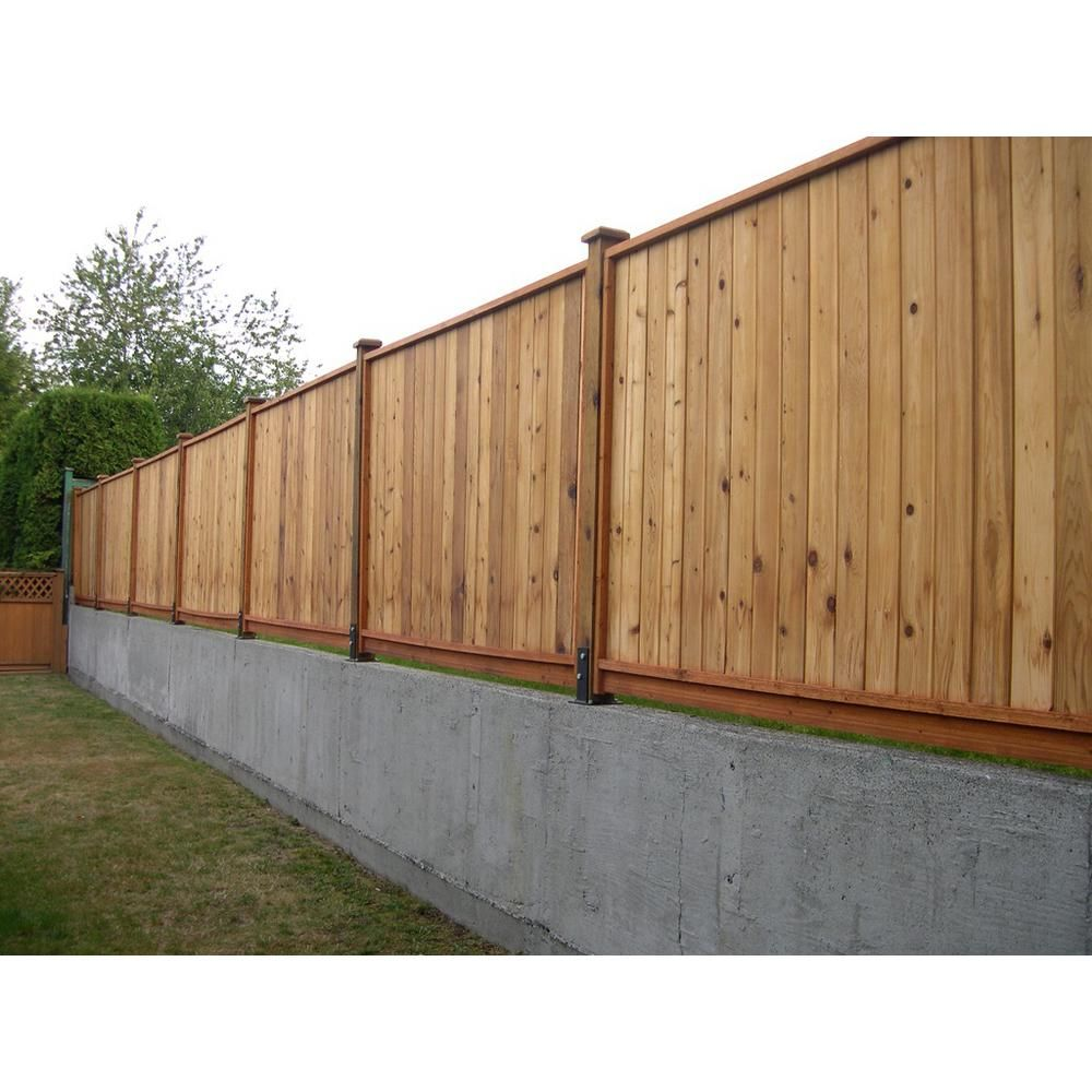 6 Ft X 8 Ft Premium Western Red Cedar Heavy Duty Solid Fence Panel W Stained Spf Frame Size 67 1 2 In H X 96 In In 2020 Fence Panels Wood Fence Design Fence Design