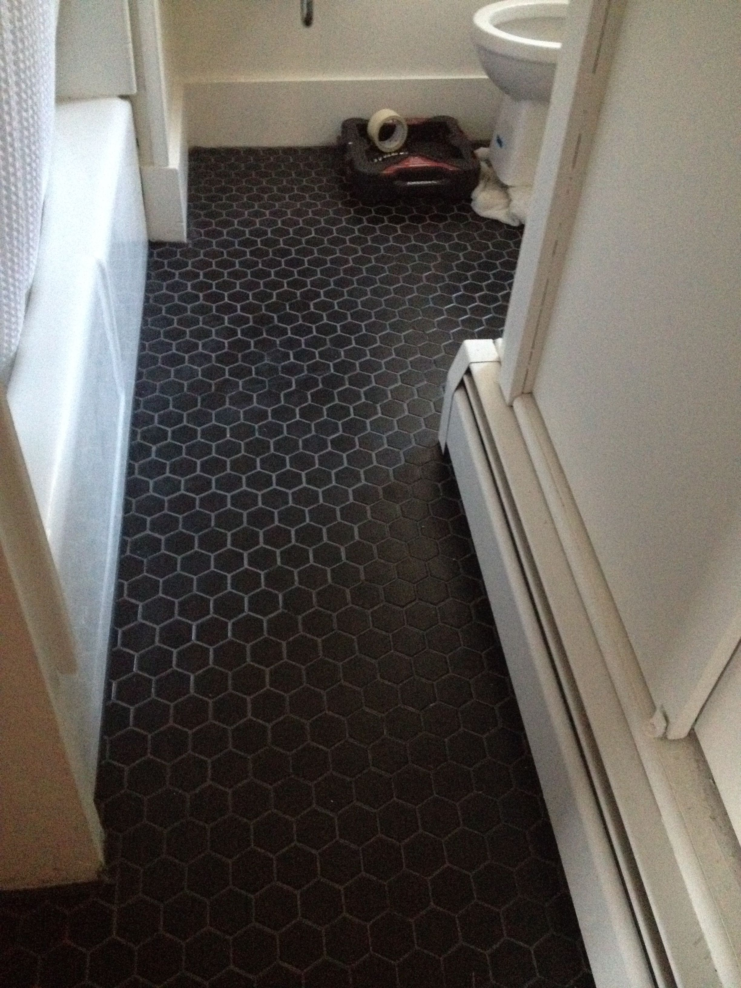 Matte Black Tile With Charcoal Grout Thayer Reed More