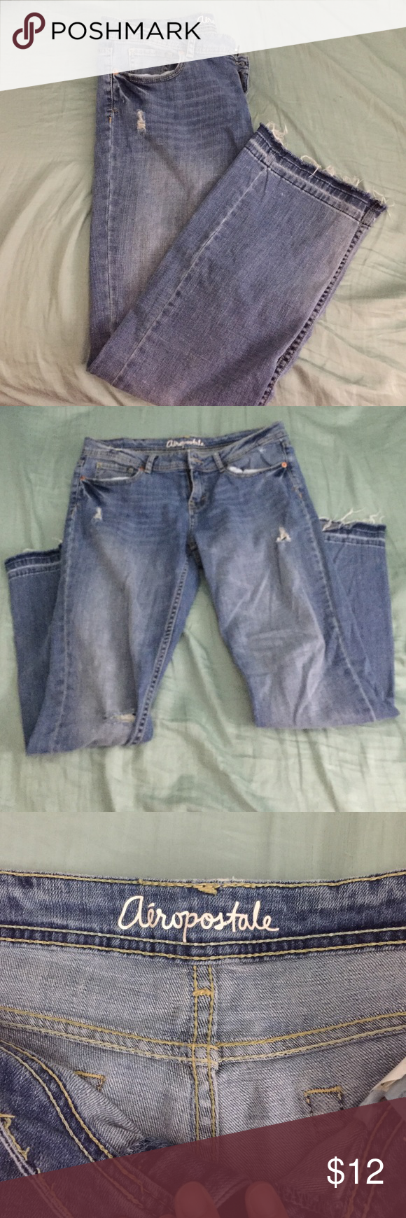 Chelsea Boot cut distressed jeans Short chelsea boot length jeans Aeropostale Pants Boot Cut & Flare