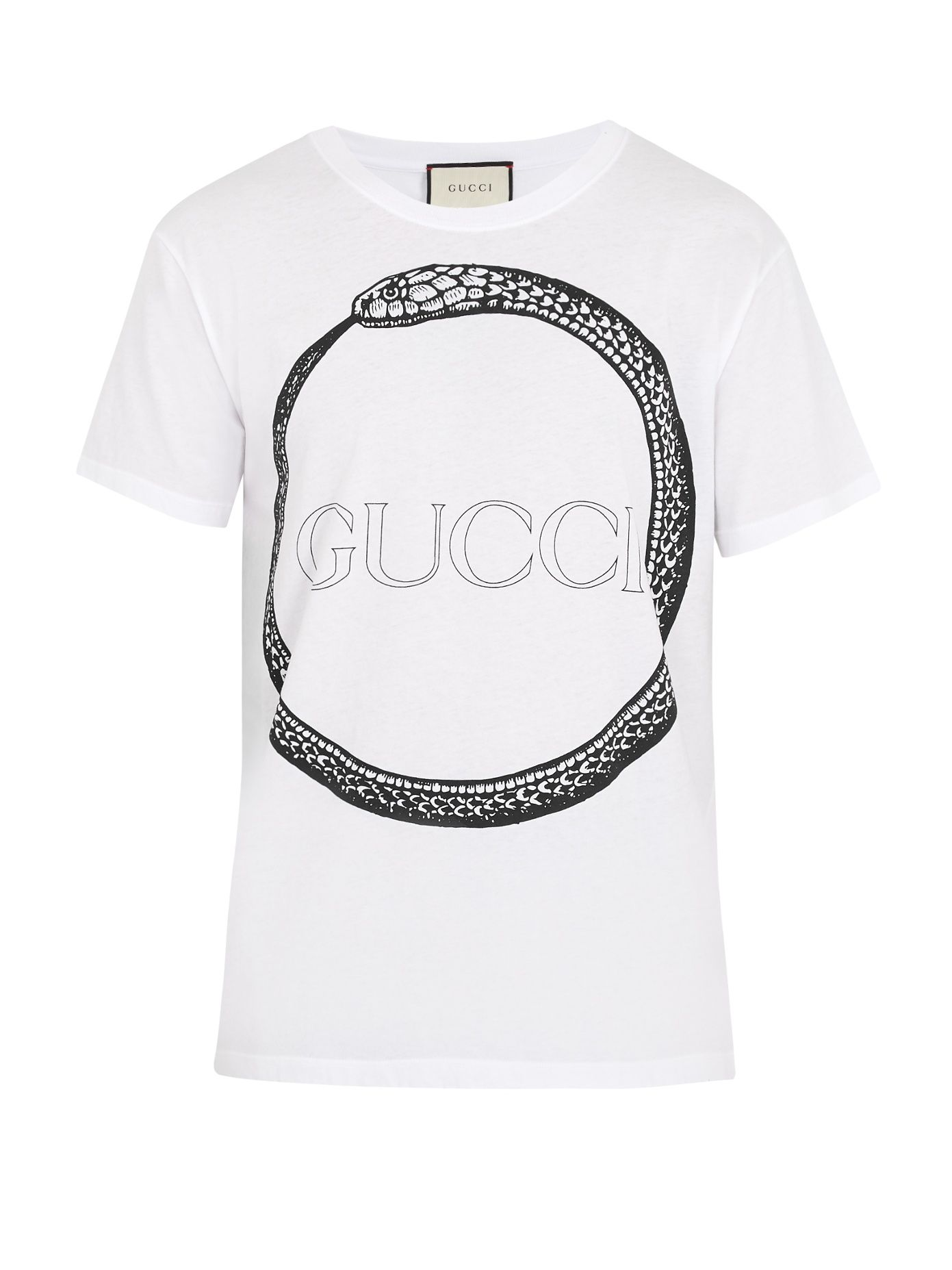 Click here to buy Gucci Snake and logo-print cotton T-shirt at  MATCHESFASHION.COM 235c74aa45