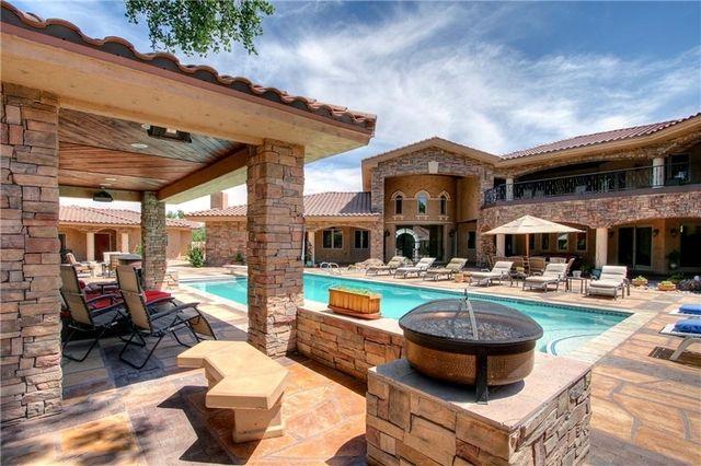 Backyard pool 1035 cottonwood dr nw albuquerque new for Rustic home albuquerque