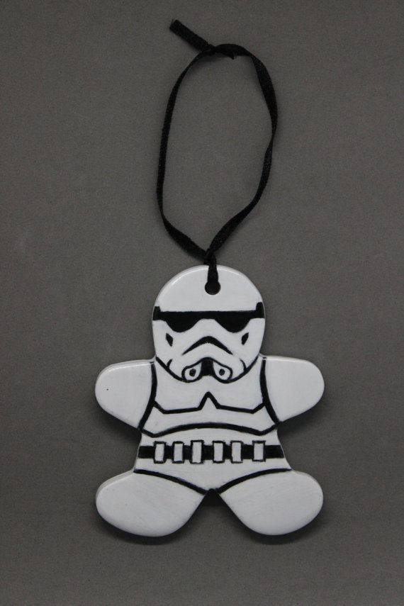 Storm Trooper Gingerbread Man Ornament / Wall hanging | Great gift for geek, nerd or Sci-Fi ...