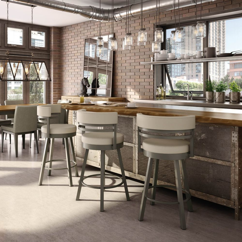 Details About Amisco Ronny Swivel Counter Bar Stool Or