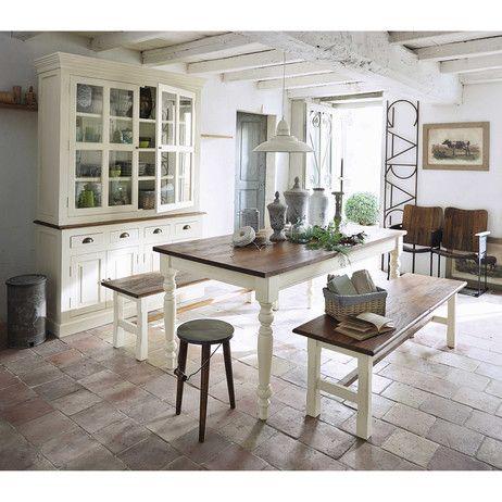 Table de salle à manger en manguier massif L 180 cm Brocante