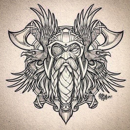 Óðinn @norse___mythology @absorb81 #norsemythology #scandinavianmythology #vikings #viking #valhalla #odin #heimdall #pagan #mythology… #norsemythology