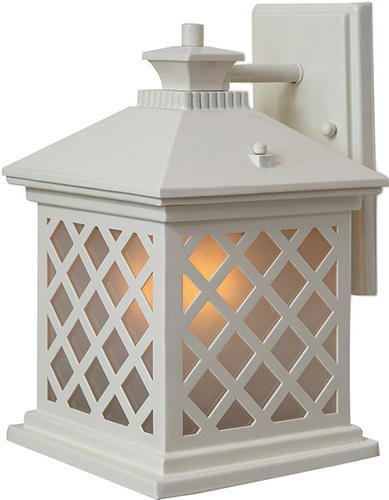 """White Outdoor Lights Maybe Trellis 1175"""" H Antique White Outdoor Wall Light At Menards"""