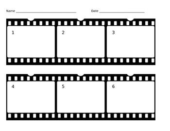 printable film strip template - this film strip graphic organizer is perfect for
