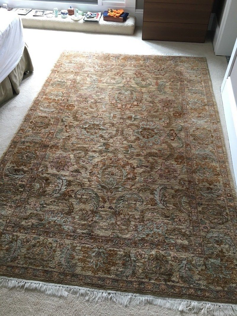 Contemporary Sculpted Wool Area Rug