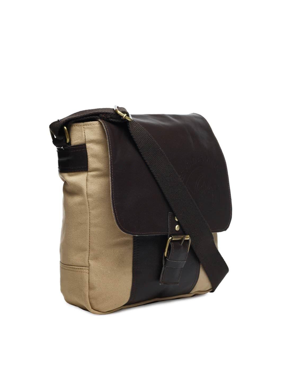 45d7200db9 U.S. Polo Assn. Men Beige and Brown Sling Bag