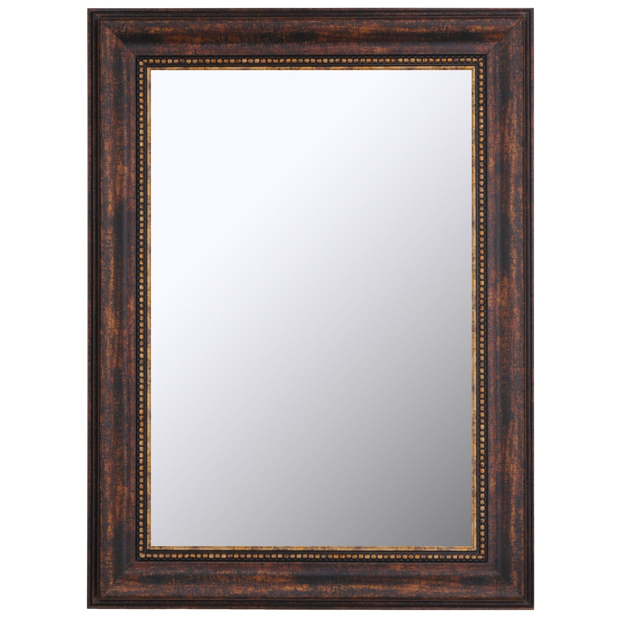 Hitch Erfield Reflections Kazakhstan Beaded Copper Framed Wall Mirror 38 X 48