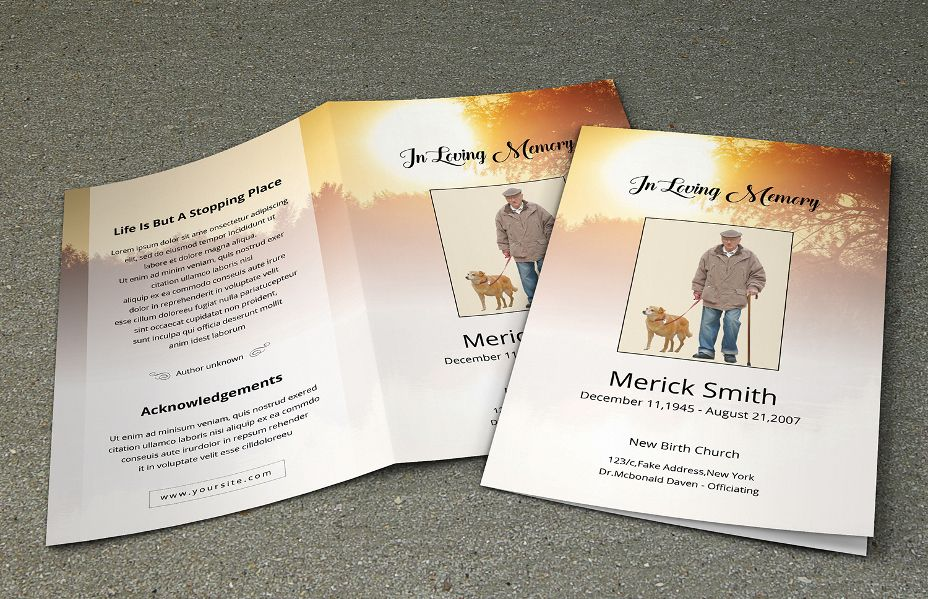 Best Premium Funeral Program Brourche Templates | Best Premium ...